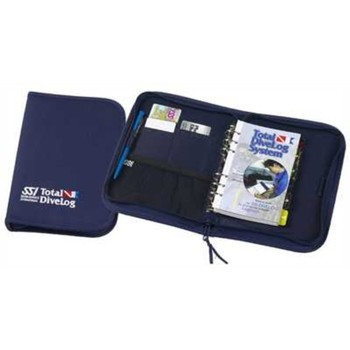 Deluxe Zip Binder - blue