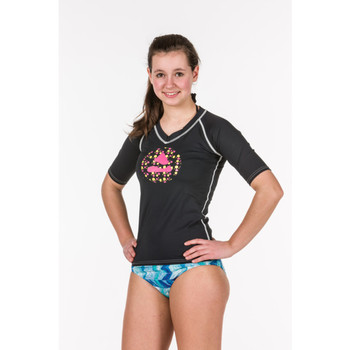 Rash Guard Black Vintage Damen