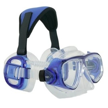 Maske Pro Ear Transparent blue